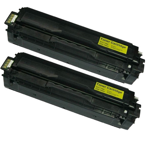 Samsung CLP-415 (CLT-Y504S) Yellow Compatible Laser Toner Cartridges (Pack of 2)