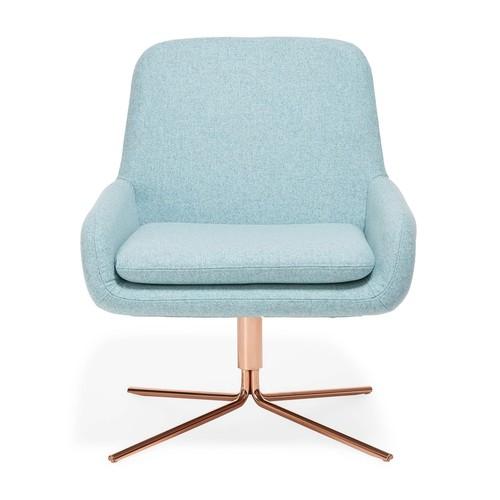 Softline Swivel Square Chair Sky Blue