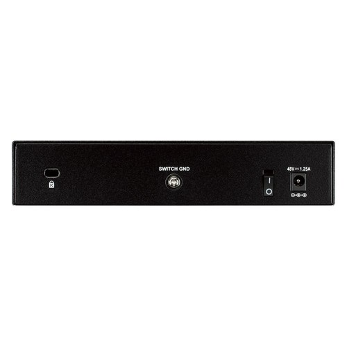 D-Link 8 Port Gigabit Unmanaged Desktop Switch with 4 PoE Ports, 68W PoE Budget (DGS-1008P)