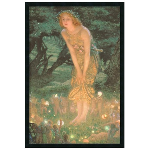 Edward Robert Hughes 'Midsummer Eve' Gel-Textured Art Print