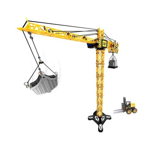 Caterpillar CAT Machine Maker Apprentice Tower Crane with Fork Lift Playset
