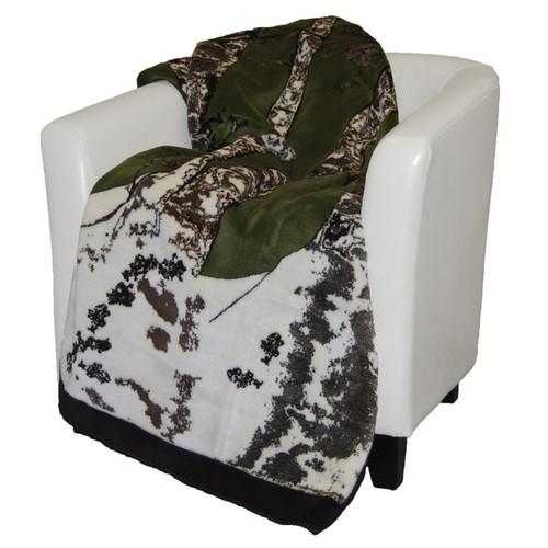 Denali Green and Chocolate Birch Tree Throw Blanket