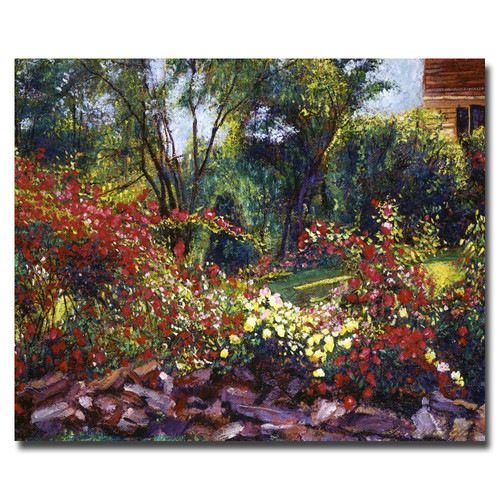 Trademark Global David Lloyd Glover 'Evening Roses' Canvas Art [Overall Dimensions : 18x24]