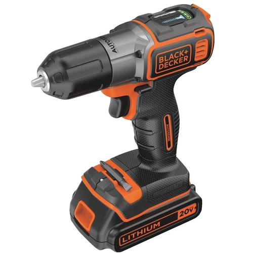 Black & Decker 20V MAX Lithium-Ion Cordless Drill Kit with AutoSense - BDCDE120C