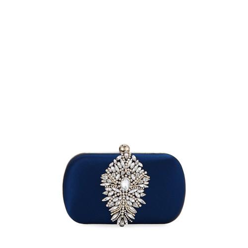 Badgley Mischka Aurora Ornament Hard Clutch Bag