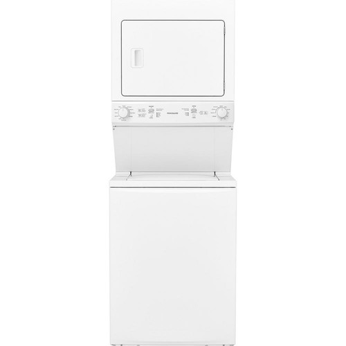 Frigidaire White Laundry Center with 3.9 cu. ft. Washer and 5.5 cu. ft. Gas Dryer