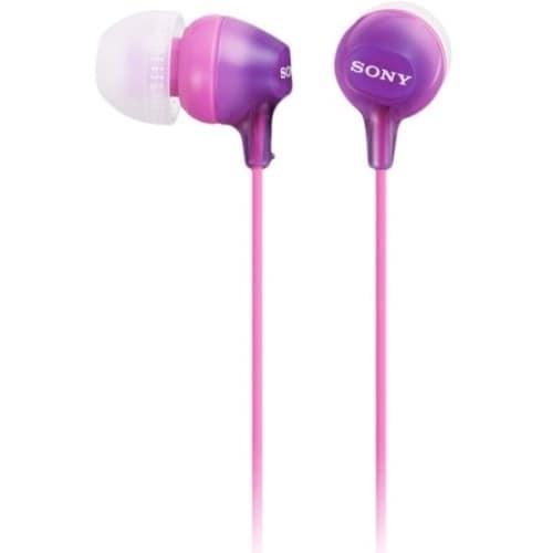 Sony MDREX15AP/V Sony Fashion Color EX Earbud Headset - Stereo - Violet - Mini-phone - Wired - 16 Ohm - 8 Hz - 22 kHz - G