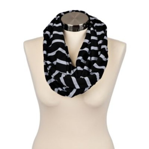 Itzy Ritzy Nursing Happens Infinity Breastfeeding Scarf in Black Stripe