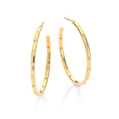 Glamazon Stardust Diamond & 18K Yellow Gold Hoop Earrings/1.55
