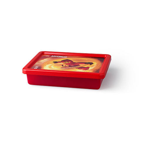 LEGO Ninjago Small Transparent Storage Box - Red
