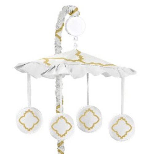 Sweet Jojo Designs Trellis Musical Mobile in White/G