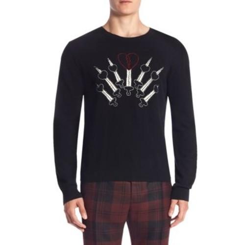 VALENTINO Love Blades Cashmere Sweater