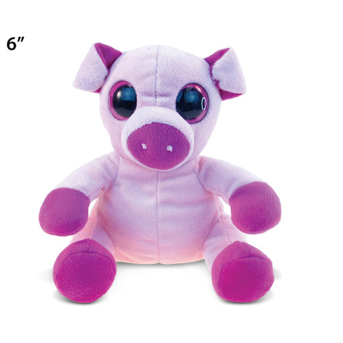 Puzzled Pink/Purple Plush Big-eye Pig