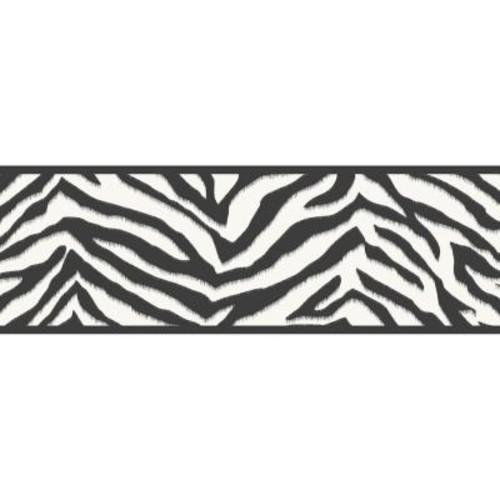 Chesapeake Mia Faux Zebra Stripes Wallpaper Border