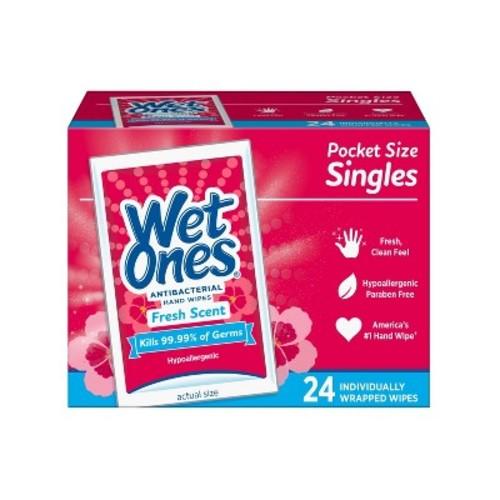 Wet Ones Singles Fresh Scent Antibacterial Wipes - 24ct