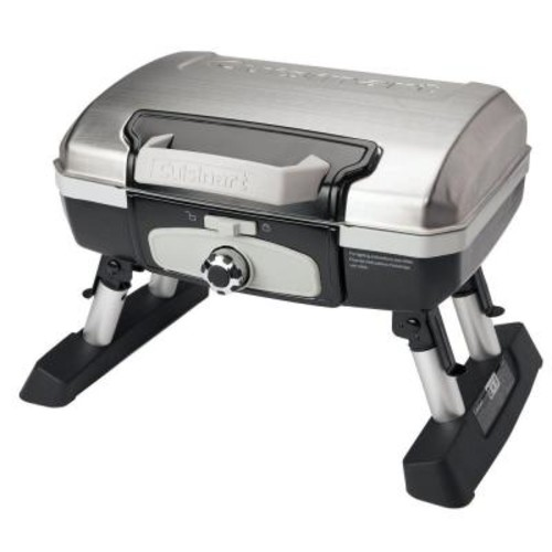 Cuisinart Petit Gourmet 1-Burner Tabletop Portable Propane Gas Grill in Stainless