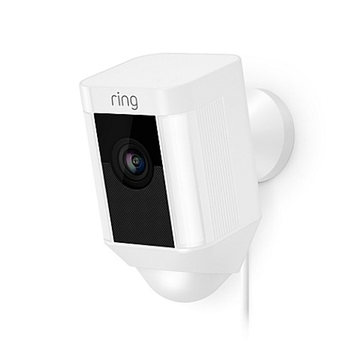 Ring Spotlight Wired Security Camera in White