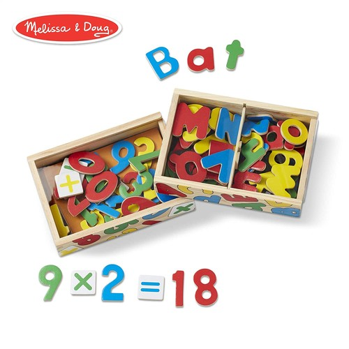 Melissa & Doug Deluxe Magnetic Letters and Numbers Set With 89 Wooden Magnets [Letters and Numbers Bundle]