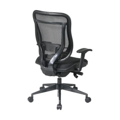 SPACE Seating Breathable Mesh High Back and Padded Seat, Ultra 2-to-1 Synchro Tilt Control, Seat Slider and Gunmetal Finish Executive Chair [Gunmetal Finish, Padded Seat]