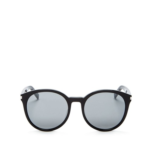 SAINT LAURENT Classic Round Sunglasses, 53Mm
