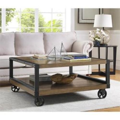 Ameriwood Home Altra Wade Wood Veneer Coffee Table in Rustic Gray