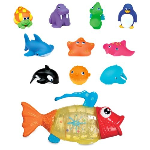 Munchkin Ten Squirtin' Sea Buddies with Fish Strainer