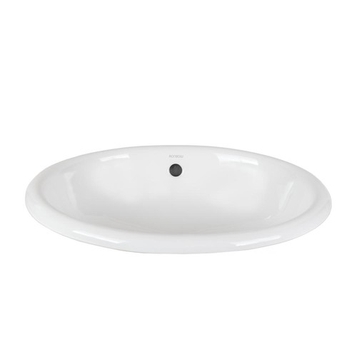 Ronbow Essentials Oval Self-Rimming Ceramic Vessel Sink in White