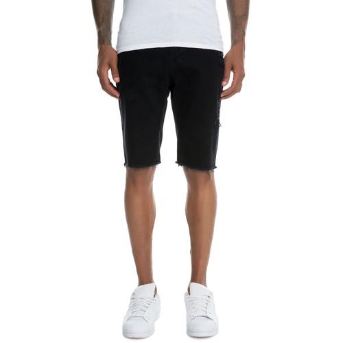 The Slash Denim Shorts in Black