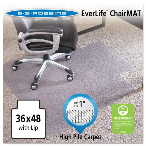 E.S. Robbins 36x48 Lip Chair Mat, Performance Series AnchorBar for Carpet up to 1