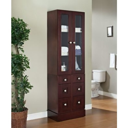American Imaginations 24'' W x 82'' H Linen Tower; Chrome