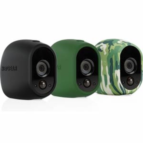Arlo Smart Security - 3 Silicone Skins for 100% Wire-Free Cameras (Black/Green/Camo) : VMA1200-10000S