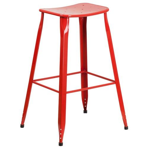 Flash Furniture 29.75 in. Red Bar Stool