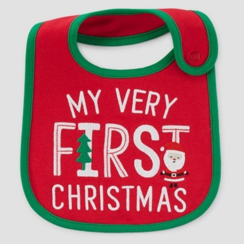 Baby's My First Christmas Bib - Just One You Made by Carter's Red