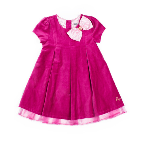 Betsey Johnson Pink Dress with Bow Detail - Infant/Toddler