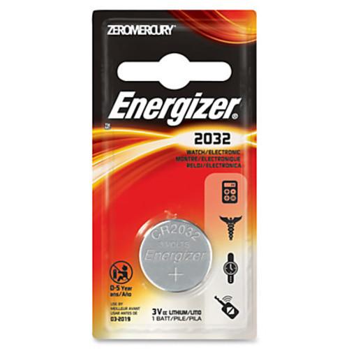 Energizer 2032 3V Watch/Electronic Battery - CR2032 - Lithium (Li) - 3 V DC - 72 / Carton