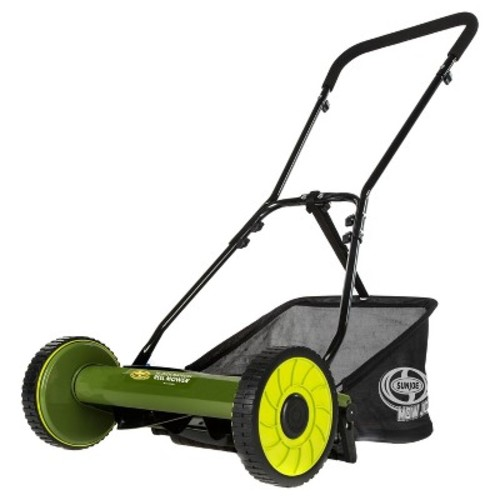 Sun Joe 16 Inch Manual Reel Mower with Grass Catcher