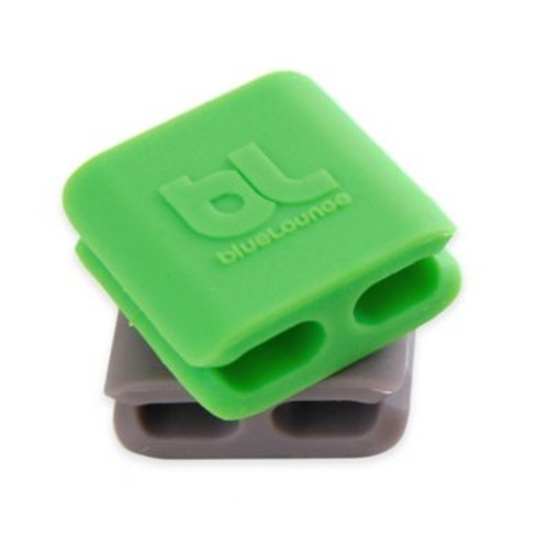 9-Pack CableDrop Mini Cable Holders in Green and Grey