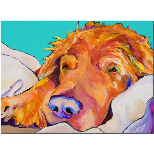 Snoozer King by Pat Saunders-White, 14x19-Inch Canvas Wall Art [14 by 19-Inch]