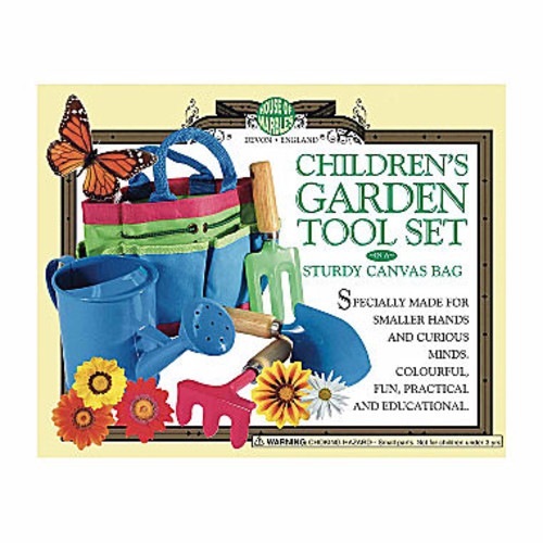 House of Marbles Children's Garden Tool Set in a Sturdy Canvas Bag