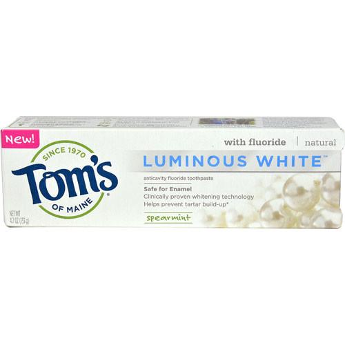 Tom's of Maine Luminous White Toothpaste Spearmint -- 4.7 oz