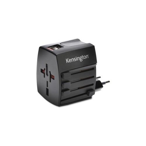 Kensington KMW33998 2.4A International Travel Adapter, Dual USB
