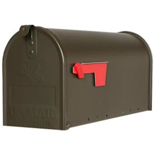 Gibraltar Mailboxes Elite Medium Capacity Galvanized Steel Bronze, Post-Mount Mailbox, E1100BZO [Bronze]