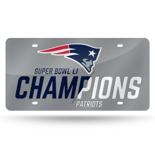 NFL New England Patriots Super Bowl LI Champions Laser License Plate Tag