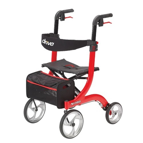 Drive Medical Nitro Euro Style Rollator Walker Red