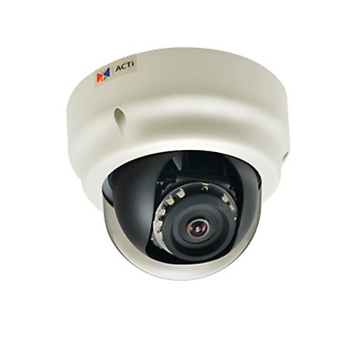ACTI 5MP Indoor Dome Camera - Night Vision, 1080p, 30 fps, Adaptive IR LED - B51