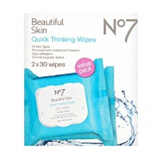 No7 Quick Thinking Wipes - Value Pack