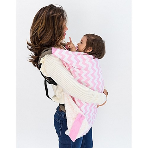 Bella Bundles Infant 4-in-1 Blanket on the Go in Pink Chevron