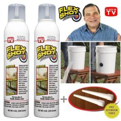 Flex Seal Flex Shot White 2 Cans