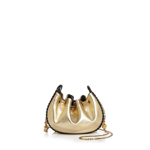 Sway 54 Metallic Leather Bucket Bag