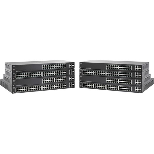 Cisco SG220-26P Small Business 26-Port Smart Plus Switch - Managed, 4x 10/100/1000(PoE+), 20x 10/100/1000(PoE), 2x Combo Gigabit SFP, Desktop, Rack-Mountable, 128MB RAM - SG220-26P-K9-NA